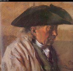 Adolph von Menzel Peasant with a Three-Cornered Hat
