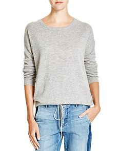 VINCE Luxe Drawstring Hem Sweater. #vince #cloth #sweater