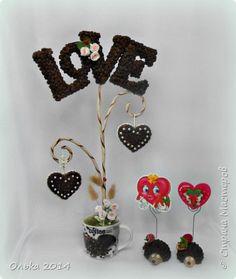 Бонсай топиарий 23 февраля Валентинов день Моделирование конструирование Топиарий ко дню влюбленных и денежные деревья Кофе фото 1