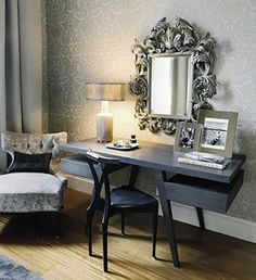 Silver statement mirror - saved by Chic n Cheap Living