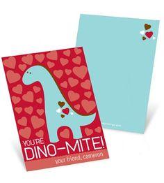 Valentine's Day Cards for Kids -- Dino-Mite
