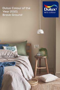 Warm Bedroom Colors, Neutral Bedrooms, Bedroom Paint Colors, Paint For Kitchen Walls, Kitchen Wall Colors, Dulux Paint Colours Neutral, Neutral Tones, Stone Colour Paint, Castle Stones