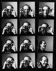 Mr. Jack Nicholson contact sheet, c. 1990s