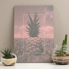 Placa decorativa - Rose Pineapple