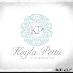 Logo Design for Kayla Pettis Photography by Jack and Molly Creative. I like circle logos/monograms