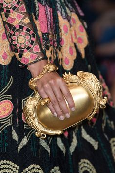 Valentino Spring 2014, bag, accessories, golden bag, clutch, fashion, style