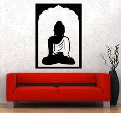 Vinyl Wall Decal Buddha Religion Biddhism India Stickers (201ig)