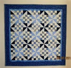 "Four-Patch of Blue"" by Judy Johnson - Show & Tell - Quilters Club ..."