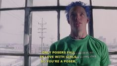 Fear, anger, and sexual arousal all have a very similar physiological arousal. If you were only monitoring the physiological responses of the characters in SLC Punk you might think that they only felt one emotion. Punk Quotes, Movie Quotes, Slc Punk, Pop Culture References, Coming Of Age, Staying Alive, Reaction Pictures, Movies Showing, Film Movie