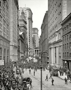 Broad Street, Financial District NYC, 1905