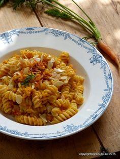 grain de sel - salzkorn: Pasta pronto - Spirelli mit Karottenpesto