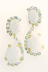 Bounkit Earrings with faceted Moonstone & Aquamarine- seen on Gossip Girl