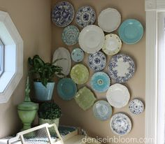 This Little Estate: Not your Grammas plate wall
