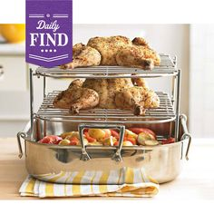 All my thanksgiving problems solved! // All-Clad Multi-Tier Roaster