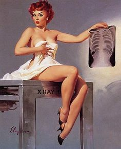 Vintage Nurse Pin Up By Gil Elvgren Ca 1950s Pin Up Vintage