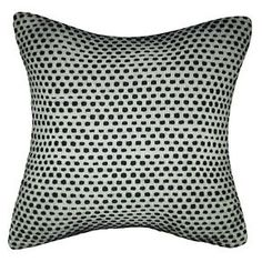 Two Shade Yarn Dyed Texture Pillow Black - Threshold™