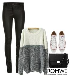 """Romwe"" by mell-2405 ❤ liked on Polyvore featuring мода, Aspinal of London и Converse"