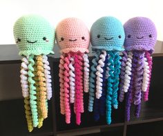 Crochet Jellyfish Mermaid Nursery Decor Under The Sea Gift Mermaid Nursery Decor, Sea Nursery, Baby Girl Nursery Themes, Nautical Nursery, Nautical Baby, Nursery Ideas, Girl Nurseries, Nursery Room, Bedroom
