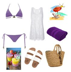 """white-purple"" by andreaa16-00 on Polyvore featuring MOEVA and Billabong"