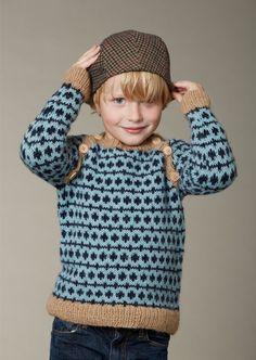 Børnesweater med raglanærmer og skrå knaplukning