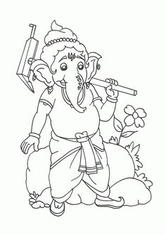 Print these Hindu mythological Lord Ganesha Free Coloring Pages for your kids. Ignite the spark of spirituality in kids through these simple activities. Coloring Pages For Kids, Coloring Books, Diwali Drawing, Ganesha Drawing, Krishna Painting, Hindu Art, Pencil Art Drawings, Lord Ganesha, Pastel Drawing