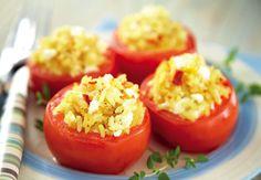 Greek Stuffed Tomatoes #recipe #BIGWeekendIn