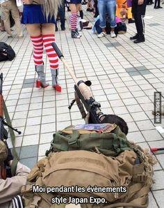 Moi pendant les évènements style Japan Expo...