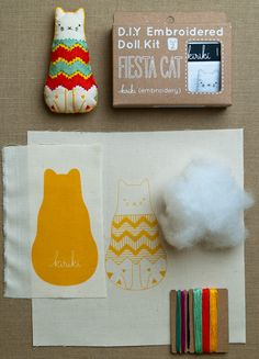 purl soho | products | item | embroidery kits (kiriki) // I would like to make one of these sometime.