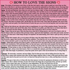 How to Love the Signs