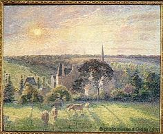 Camille Pissarro | Landscape at Eragny, 1897 | Oil on canvas | Musée d'Orsay, Paris, France