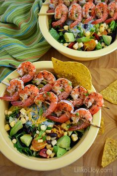 Salad Week! Southwest Shrimp Salad Bowls