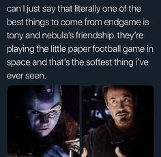 Nebula is serious about her desktop football Nebula is serious about her desktop football Marvel Funny, Marvel Dc Comics, Marvel Avengers, Avengers Memes, Marvel Memes, X Men, Dc Memes, The Villain, Guardians Of The Galaxy