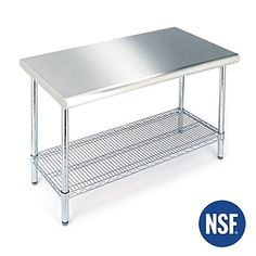 Seville Clics Stainless Steel Nsf Utility Table She18308b
