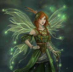 Green faerie angels and fairies, dark fairies, fantasy fairies, fairy music, fairy Fairy Music, Fairy Art, Magical Creatures, Fantasy Creatures, Elfen Fantasy, Dragons, Fairy Pictures, Woodland Fairy, Beautiful Fairies
