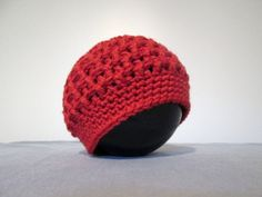 Newborn Textured Beanie Merino Wool Crochet Ready by MamasHookin