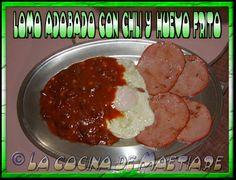 La cocina de Maetiare: Lomo adobado con chili y huevo frito