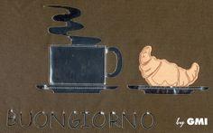 Buongiorno by #GMIIaser . Creato con macchina da #ricamo e #pontelaser GMI