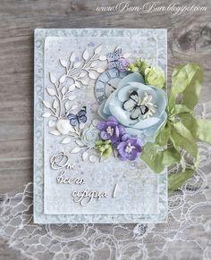Cold card, scrapbooking. Бум-Бюро: Открытка охлаждающая:)))