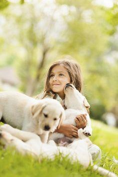 Martine ⊰✿, (via How pets benefit child development)