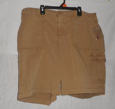 NEW Women's SONOMA Mandy Utility Bermuda Shorts Cargo Mid Rise Khaki Size 16 400773867587 | eBay