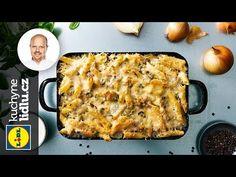 Zapečené penne s kuracím mäsom, hráškom a syrom Penne, Lidl, Lasagna, Macaroni And Cheese, Roman, French Toast, Breakfast, Ethnic Recipes, Youtube