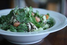 Arugula and Black Quinoa Salad Recipe with Green Goddess Dressing