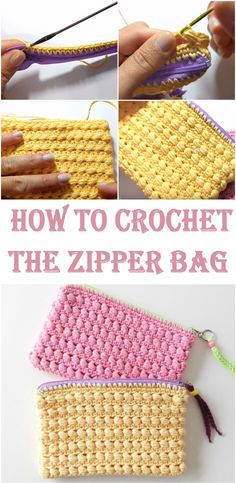 Crochet the zipper Bag