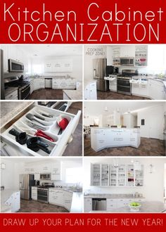 7 Tips For Small Kitchen Cabinet Organization Design with Many Tools - Artistic Home Decor Kitchen Cabinet Organization, New Kitchen Cabinets, Kitchen Redo, Organization Hacks, Kitchen Storage, Kitchen Ideas, Kitchen Planning, Pantry Ideas, Cheap Kitchen