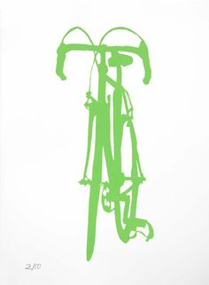 Bicycle Art  Green Classic Cinelli Bike Print by bicyclepaintings, $30.00