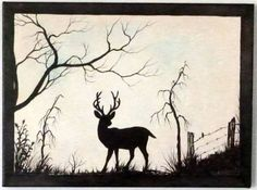 Deer standing strong. Rustic 12 x 16 Acrylic on by ArtbySimplyMe, $75.00