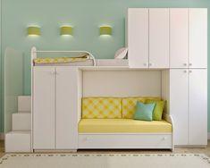 Новыйl Двухъярусная Кровать с диваном внизу - Стильность и практичность (90+ Фото)