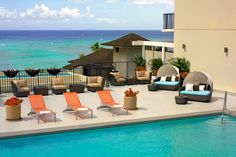 By the pool...by the ocean...