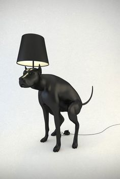 Pooping Dog Lamps by Whatshisname