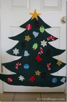 felt christmas tree, children, kids,